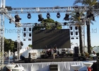 HD P3.91 Curved Rental LED Video Wall High Resolution 1R1G1B IP65 Stage Background